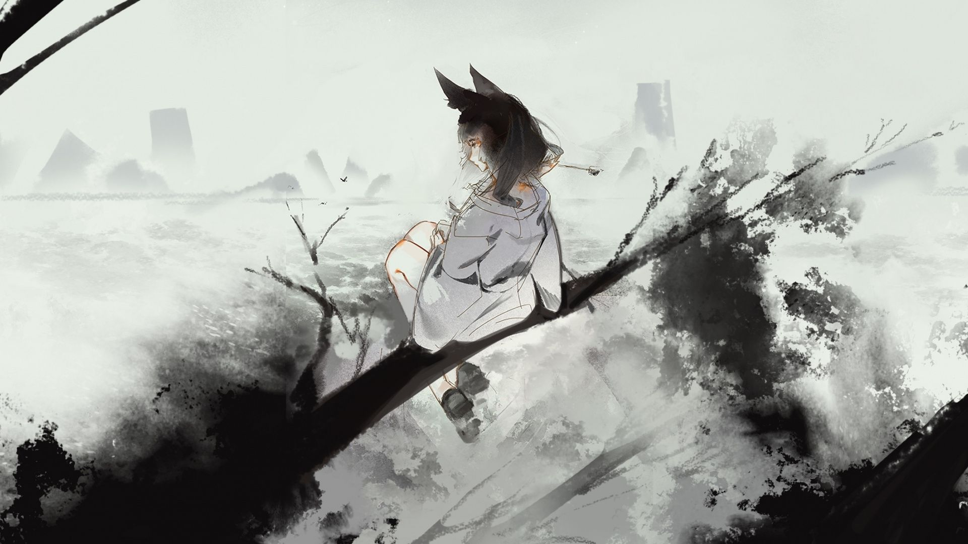 Anime wall collage kit,anime aesthetic pictures 50pcs anime manga posters for room aesthetic black and white anime panel postcard for. Black And White Aesthetic Desktop Anime Wallpapers ...