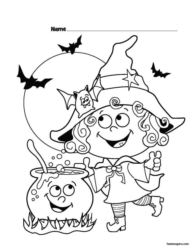 Halloween Coloring Pages Wallpapers - Wallpaper Cave