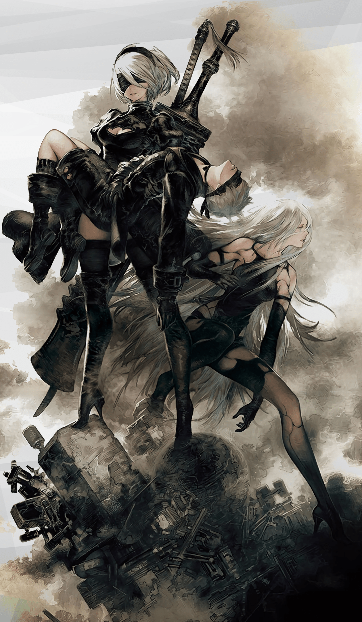 2b Phone Wallpaper : phone, wallpaper, Automata, Phone, Wallpapers, Wallpaper