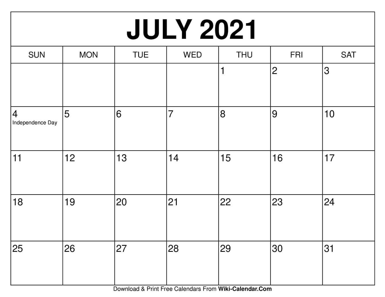 2021 blank monthly calendar pagespdf format. July 2021 Calendar Wallpapers - Wallpaper Cave