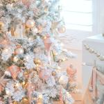 Christmas Pink And Gold Wallpapers Wallpaper Cave