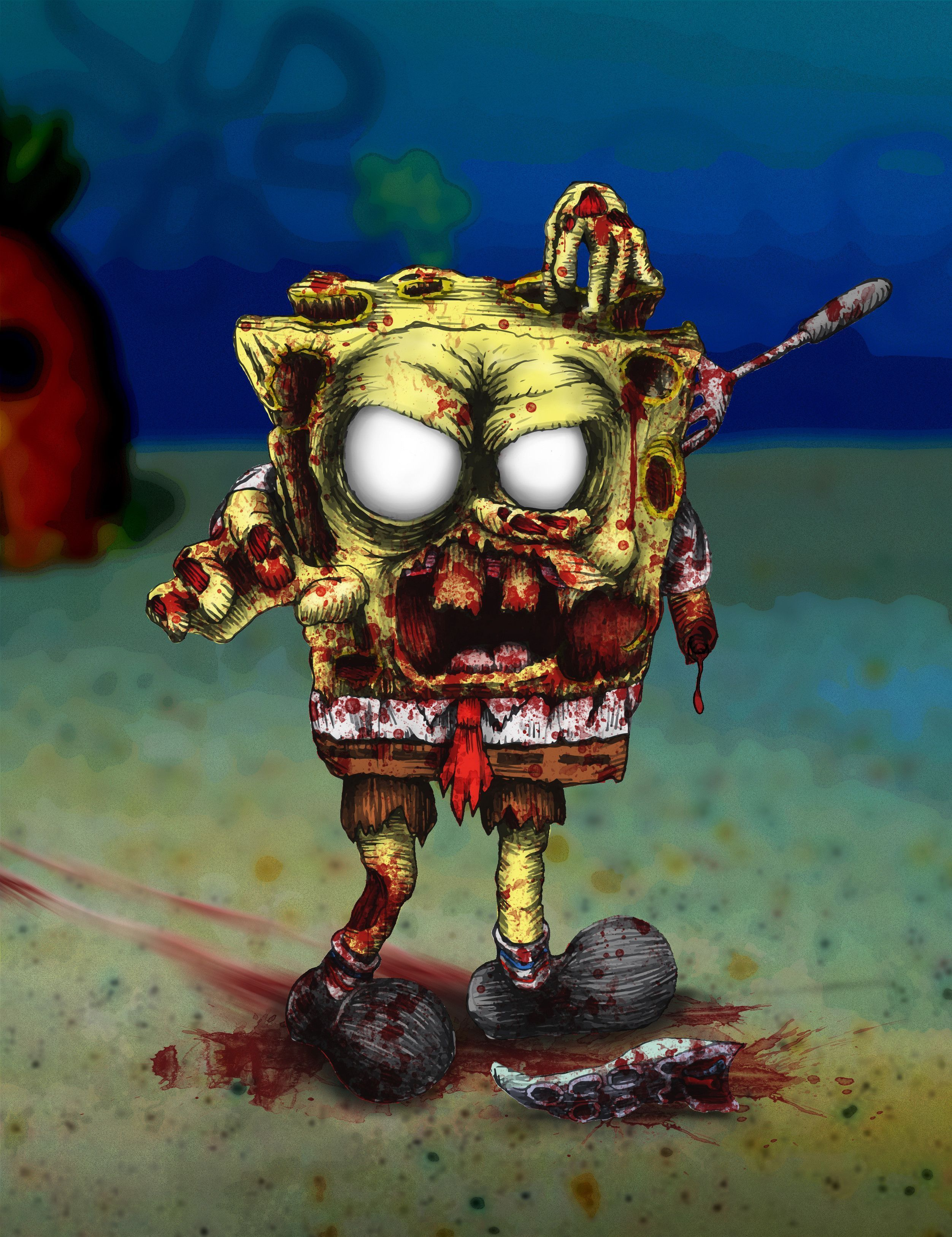 Scary Spongebob : scary, spongebob, Scary, SpongeBob, Wallpapers, Wallpaper