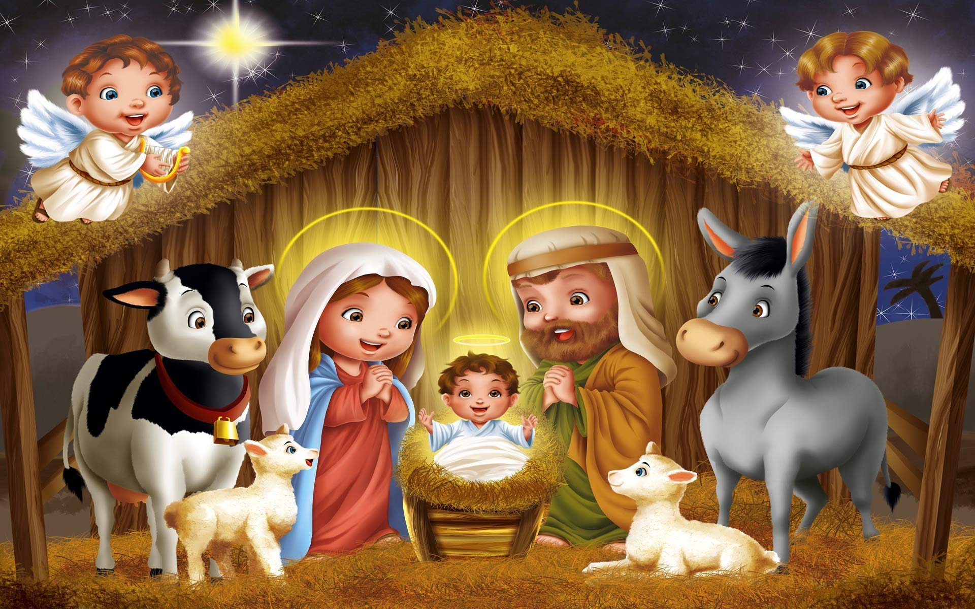 free christmas nativity wallpapers