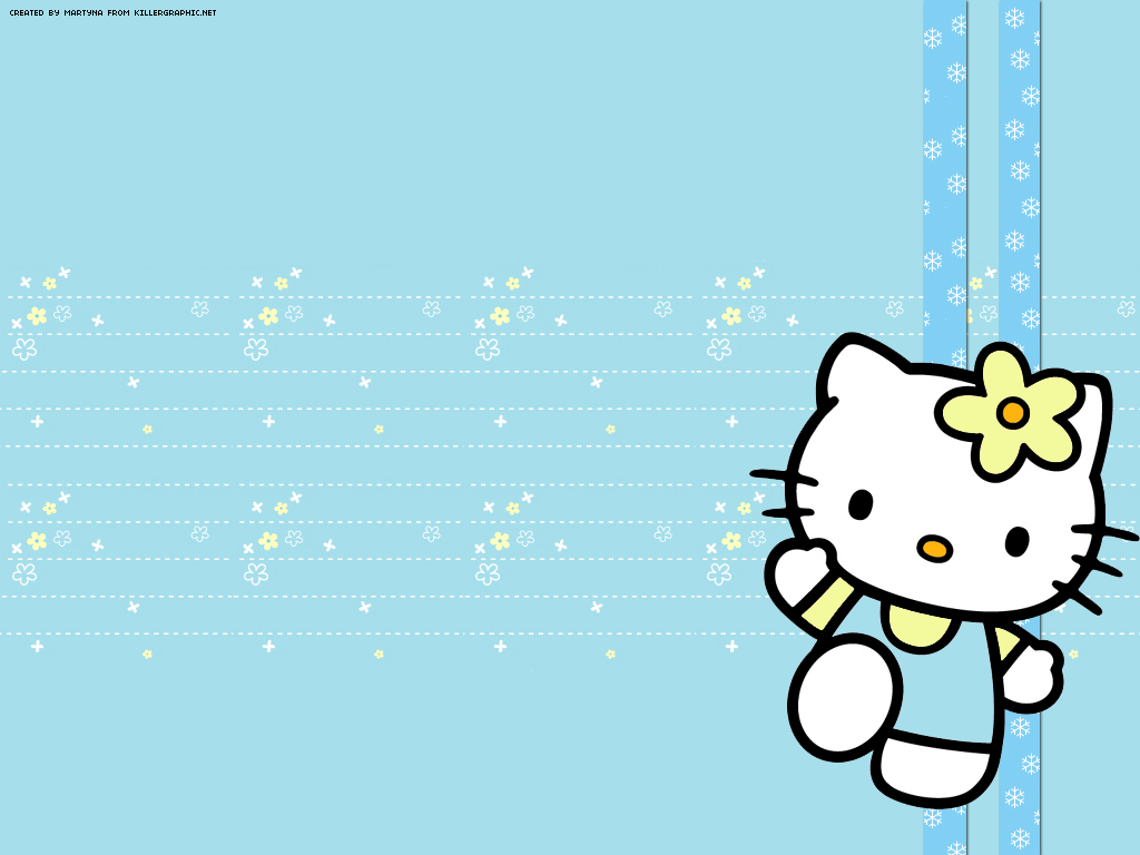 Cute Hello Kitty Face Wallpaper Blue Hello Kitty Wallpapers Wallpaper Cave
