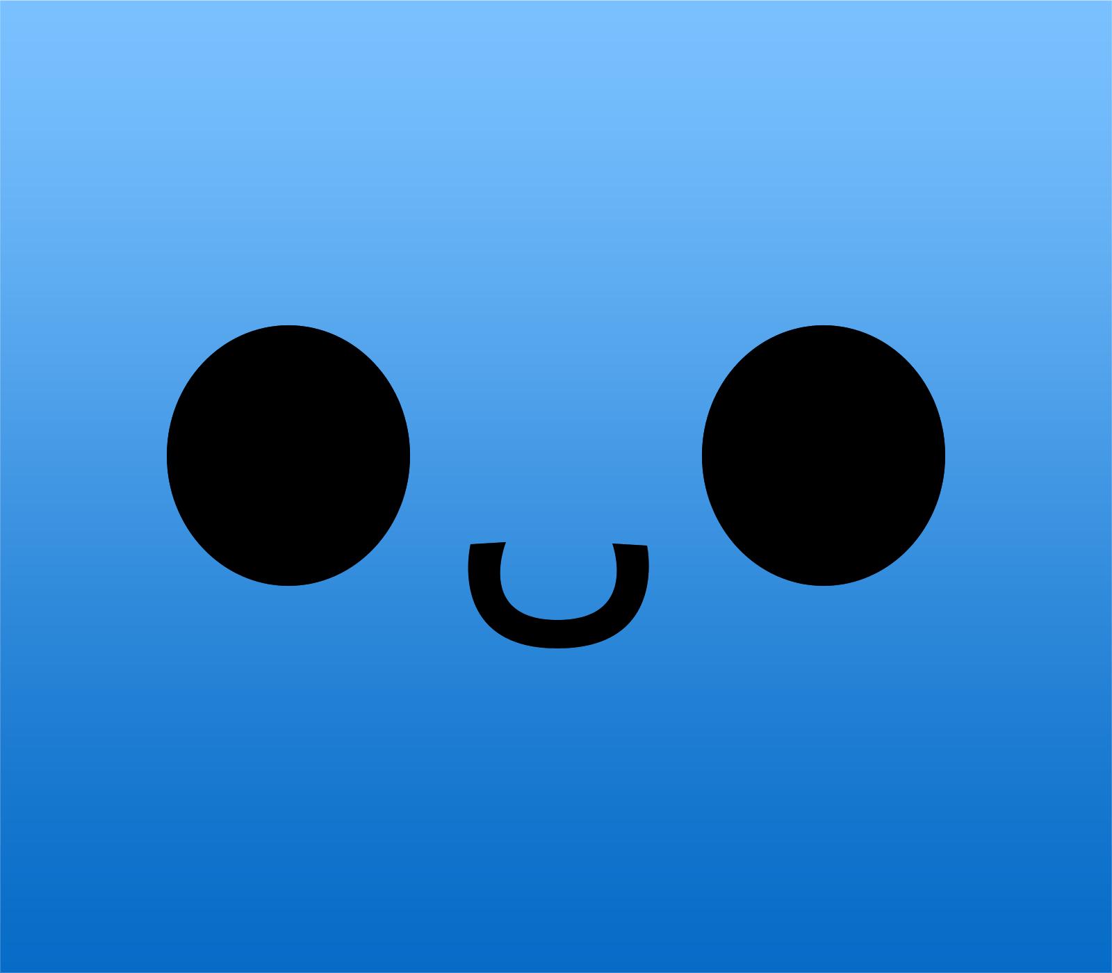 Cute Cartoon Faces Wallpaper Blue Cute Wallpapers Wallpaper Cave