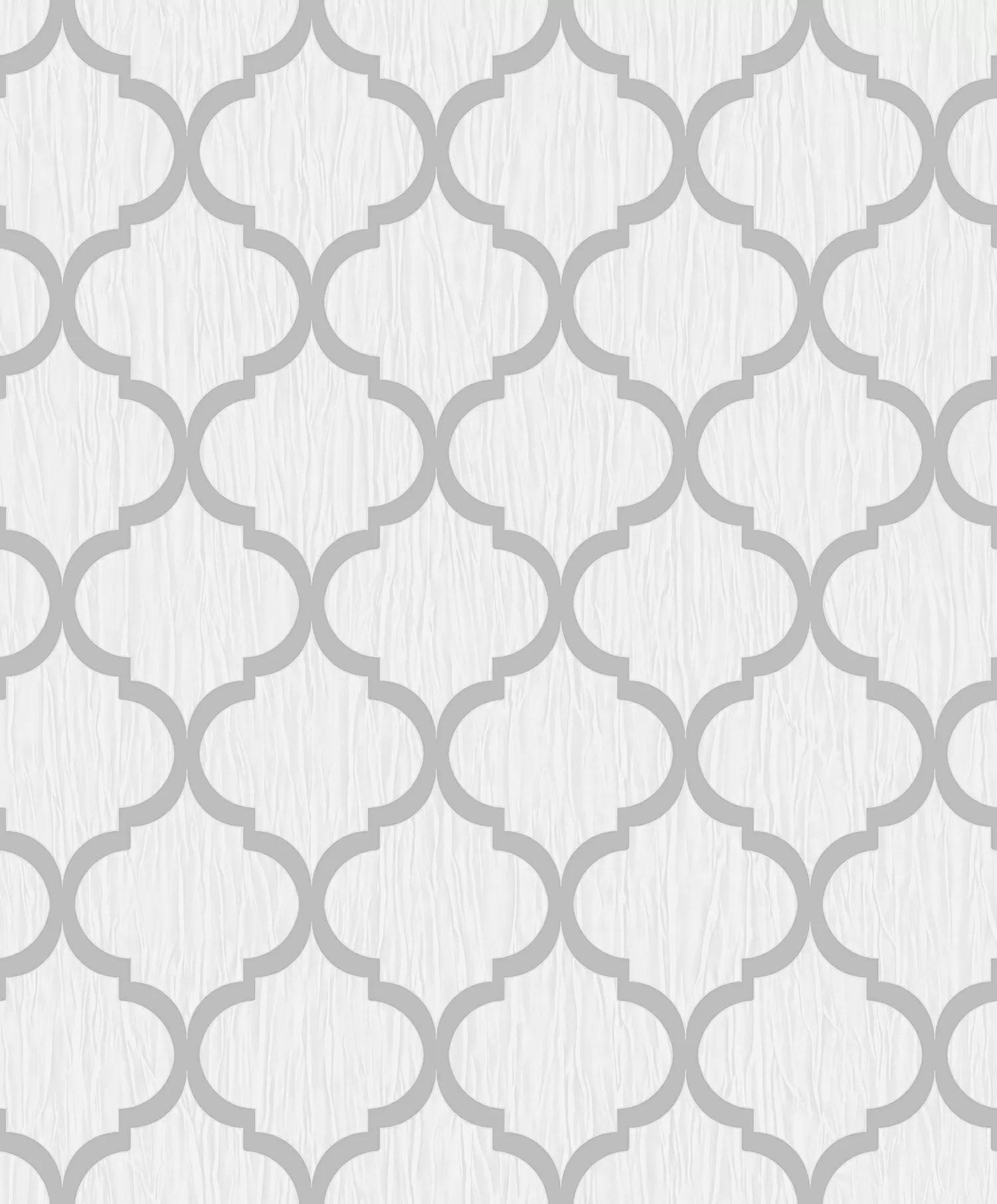 Debona Crystal Trellis White Silver
