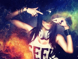 Electro Girl Wallpaper Hd Dj Fizza Hd Music And Style Wallpapers