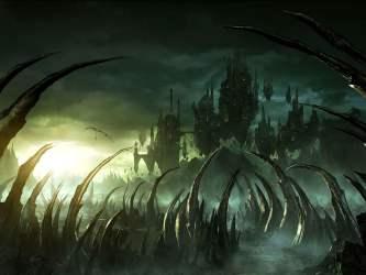 fantasy castle dark hd digital