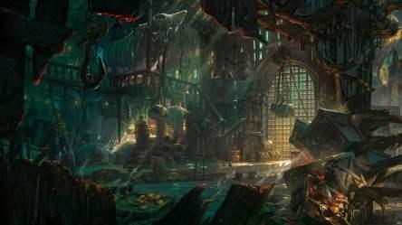 Burned house digital illustration Bilgewater fantasy art pirates ports HD wallpaper Wallpaper Flare