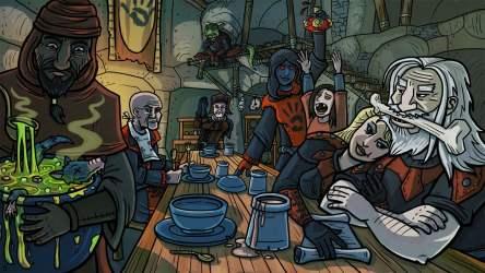 Mutants cartoon illustration The Elder Scrolls V: Skyrim The Elder Scrolls Dark Brotherhood HD wallpaper Wallpaper Flare