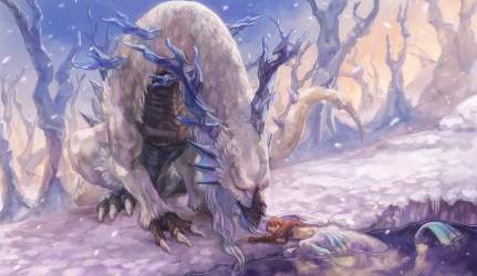 White mythical creature beside person wallpaper anime HD wallpaper Wallpaper Flare
