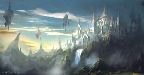 Castle illustration castle fantasy art HD wallpaper Wallpaper Flare