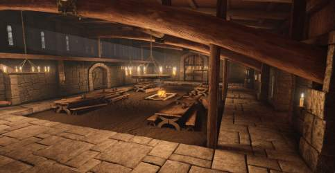 Brown house interior 3D medieval candles HD wallpaper Wallpaper Flare