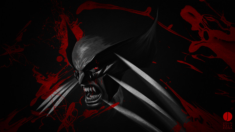 Rog Animated Wallpaper Black And Red Wolverine Hd Wallpaper Wallpaperfx