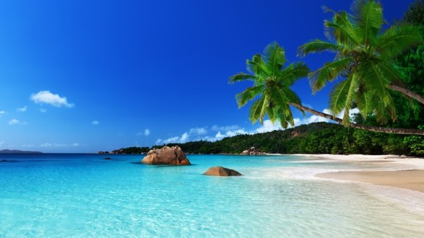 tropical island landscape hd wallpaper