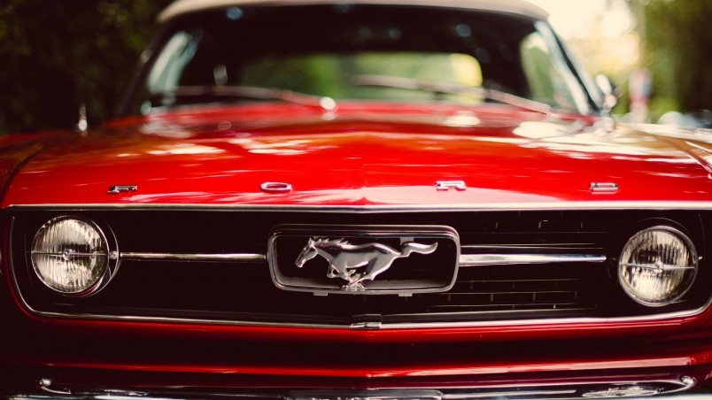Red Ford Mustang Hd Wallpaper Wallpaperfx