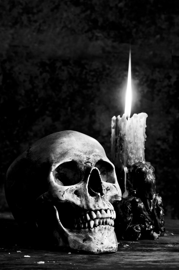Gothic Skull and Candle
