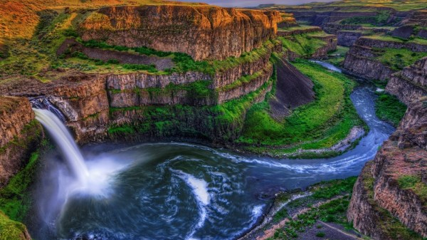 awesome waterfall landscape wallpaper