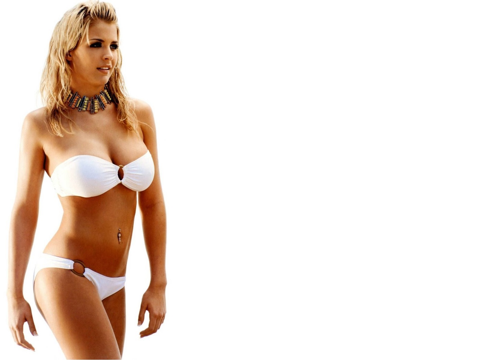 Anime Girl Wallpaper Hd Icon Hot Sexy White Bikini Gemma Atkinson Wallpaper