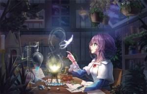 anime purple night hair desk butterfly wallpapers desktop laptop wallpapermaiden tv