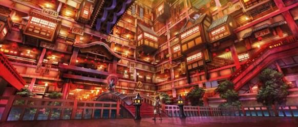 cyberpunk anime futuristic mask walking bridge asian rabbit wallpapermaiden