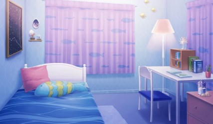 Wallpaper Cute Anime Room