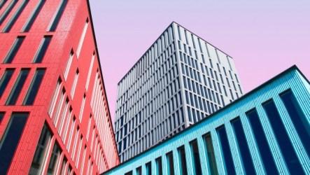 architecture modern buildings sky office clear colorful facade 4k hd offices 5k wallpapers symmetry minimalism ekonomi ultra wallpapermaiden standard resolutions