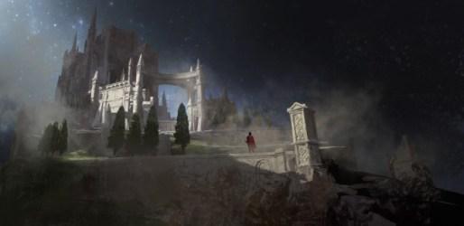 fantasy medieval castle sword trees knight cape artwork wallpapermaiden