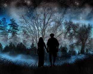 fantasy wallpapers couple hd desktop dark computer enamorados background backgrounds amor abyss imagenes 4k achtergrond stars wall alphacoders