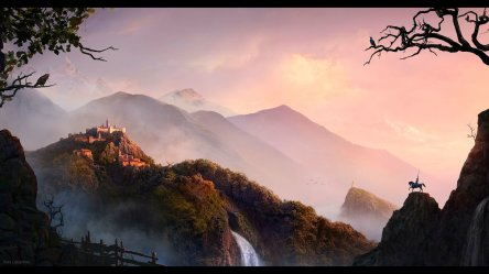 cg wallpapers fantasy landscape hd game 1080 1920 backgrounds desktop background 1080p восход pc горах wallpapersafari wall