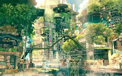 Scenery anime wallpapers 1440x900 desktop backgrounds