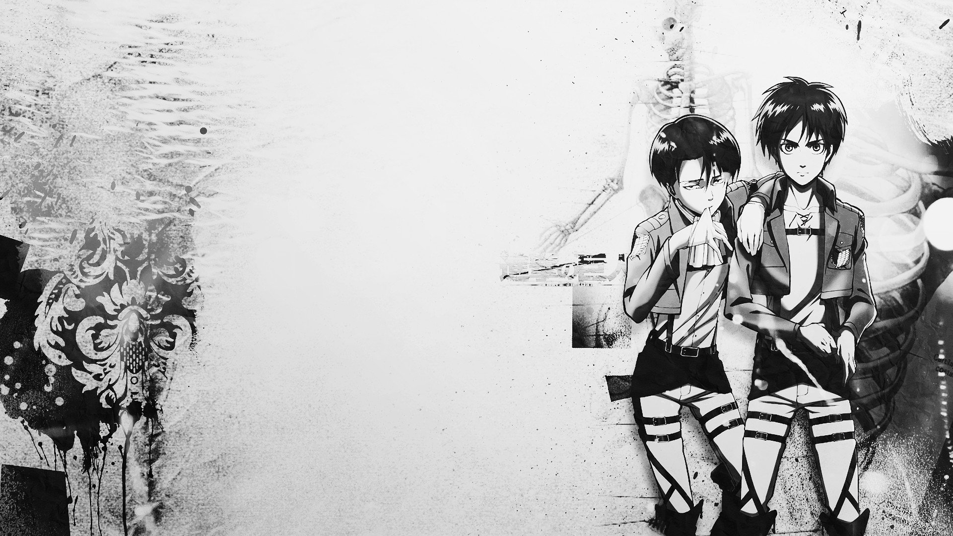 Zendha Attack On Titan Black And White Wallpaper