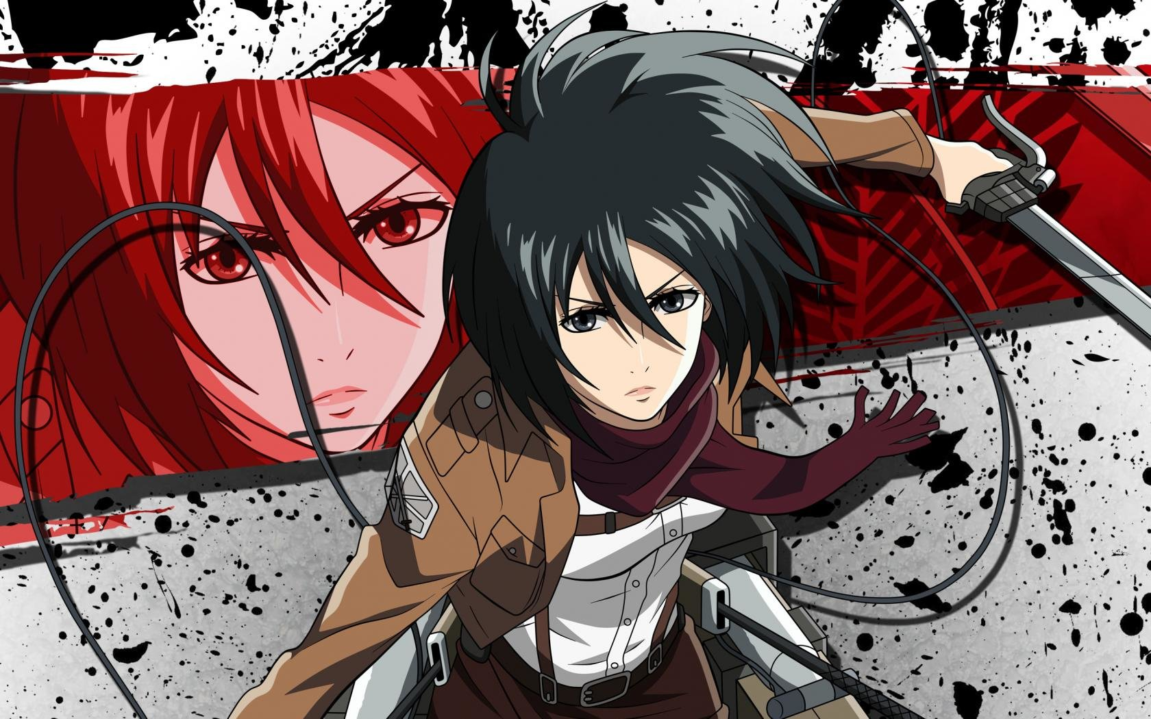 Shingeki no kyojin hd wallpapers free download. Mikasa Ackerman wallpapers 1680x1050 desktop backgrounds