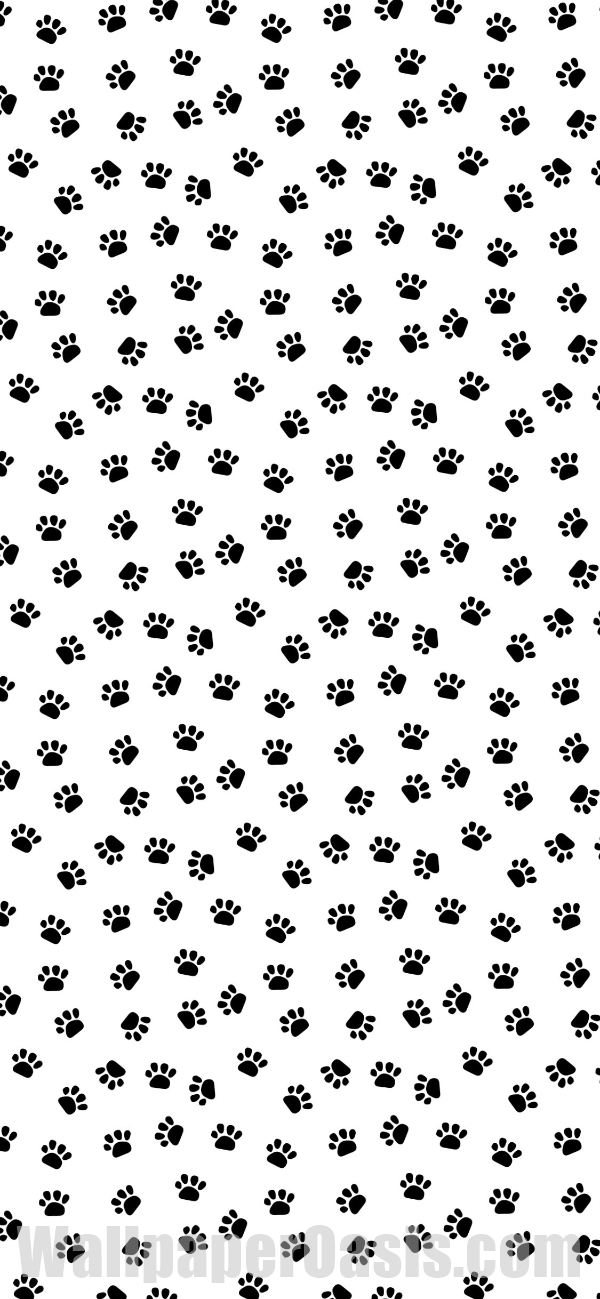 Oasis Wallpaper Iphone 5 Black And White Paw Print Iphone Wallpaper