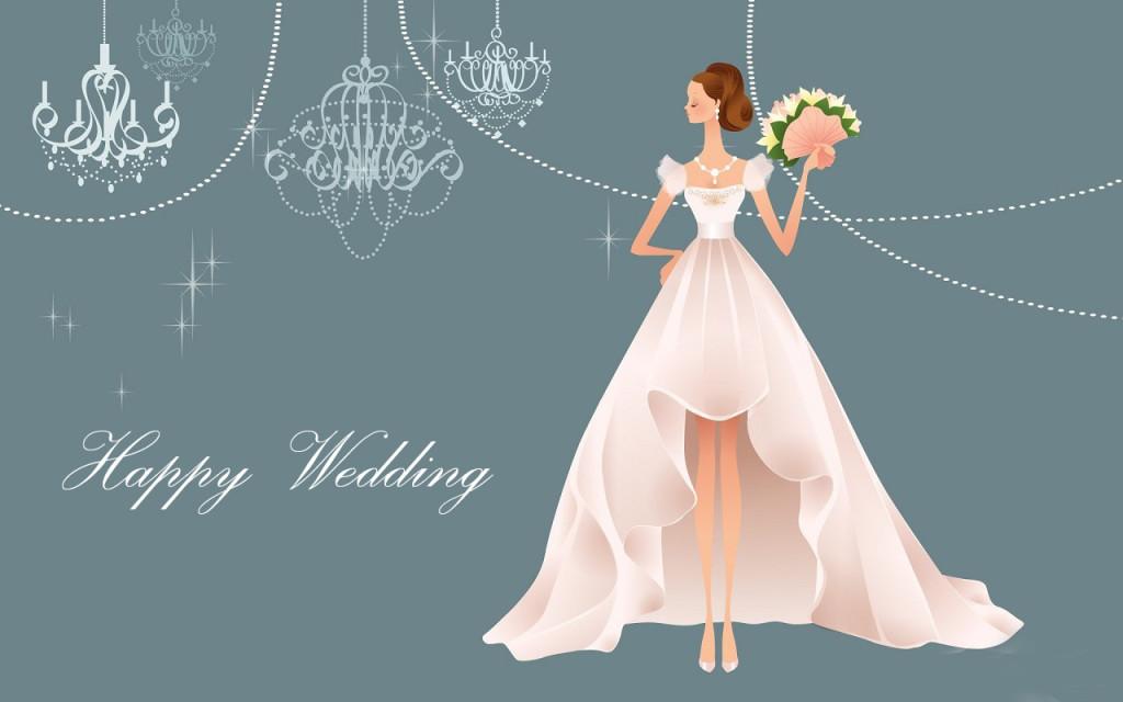 Wallpaper Cute Cartoon Muslimah Nice Wedding Wishes Wallpaper Inspiration