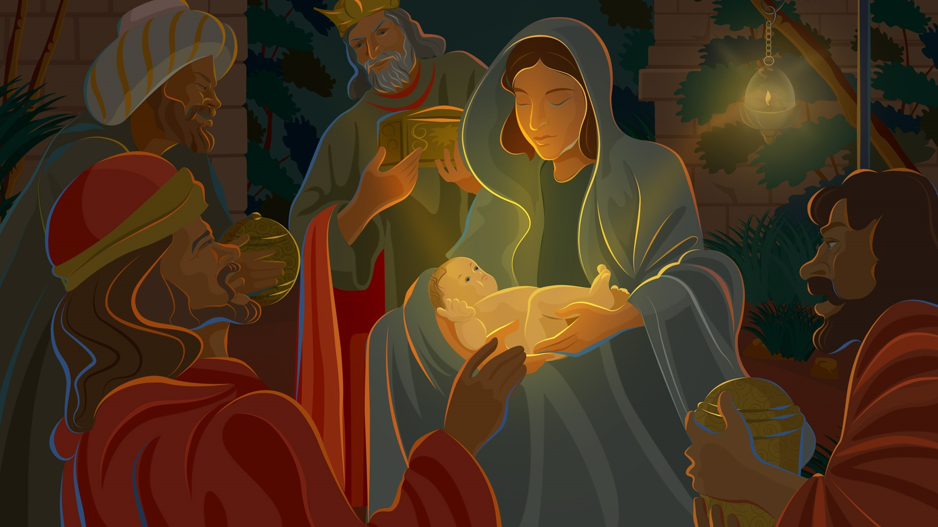 Cute Baby Boy Full Hd Wallpaper Cartoon Baby Jesus Christmas