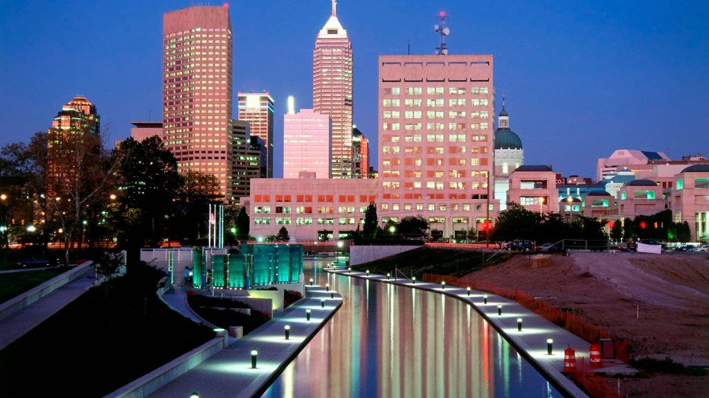 Indianapolis Skyline at Night  CITIES