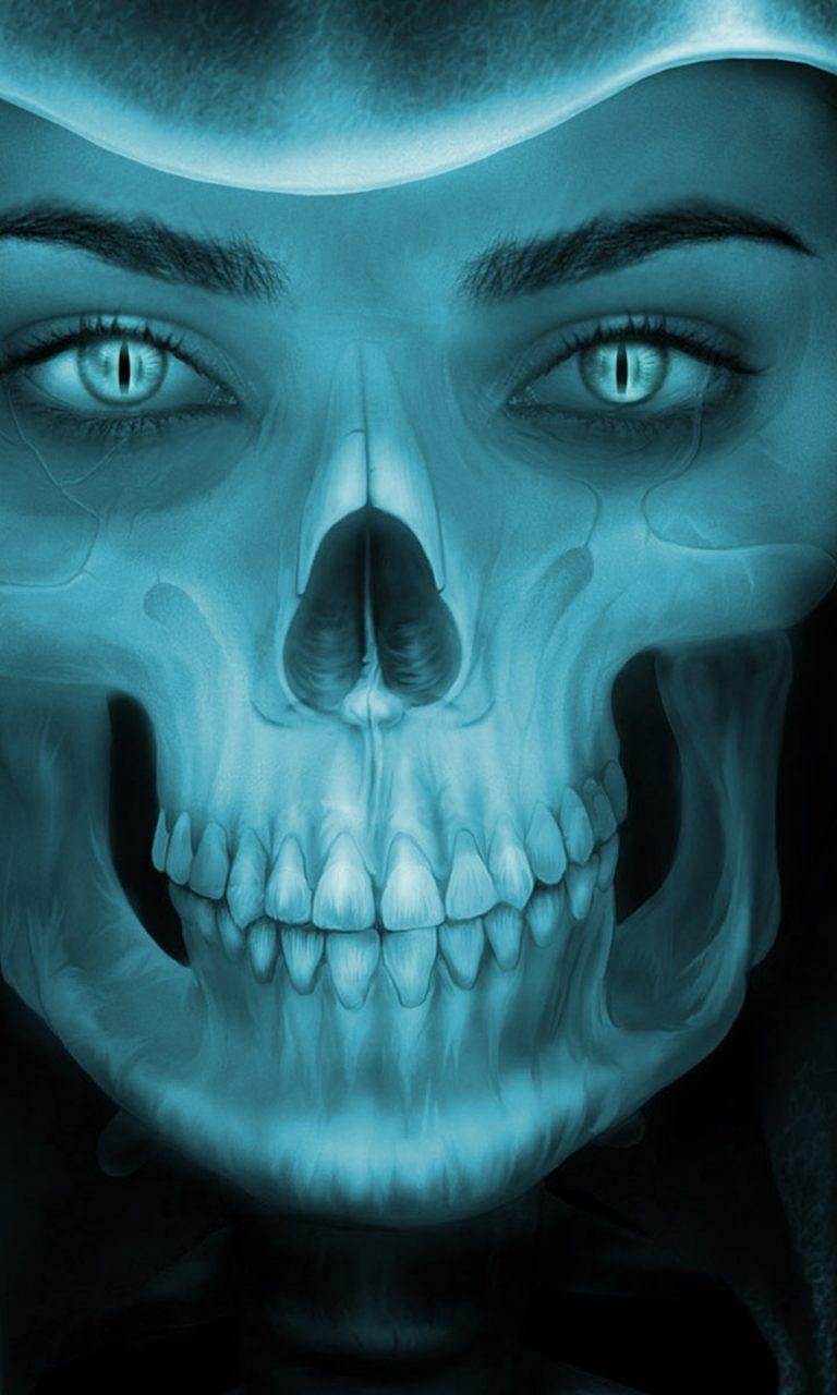 Demon Girl Wallpaper Female Grim Reaper Face Hd Wallpaper