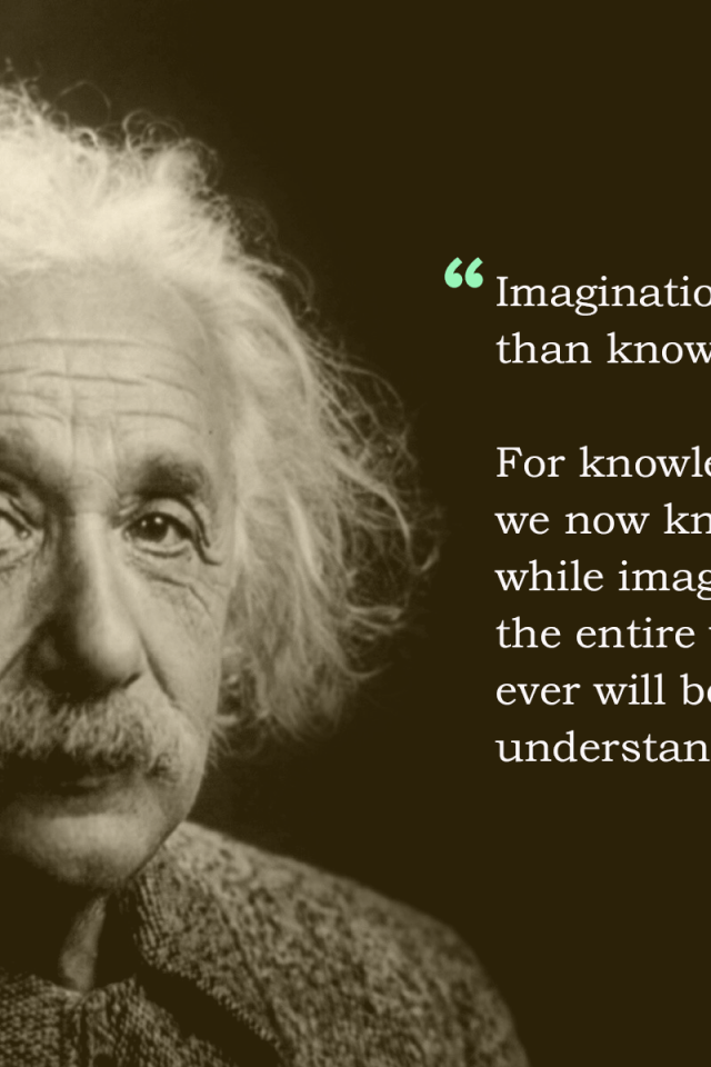 Inspirational Quotes Wallpaper For Android Albert Einstein Imagination Quote Hd Wallpaper