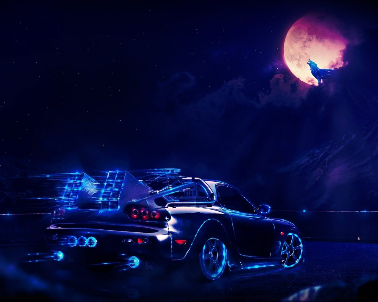 Universe Wallpaper Iphone X Back To The Future Delorean At Night Hd Wallpaper