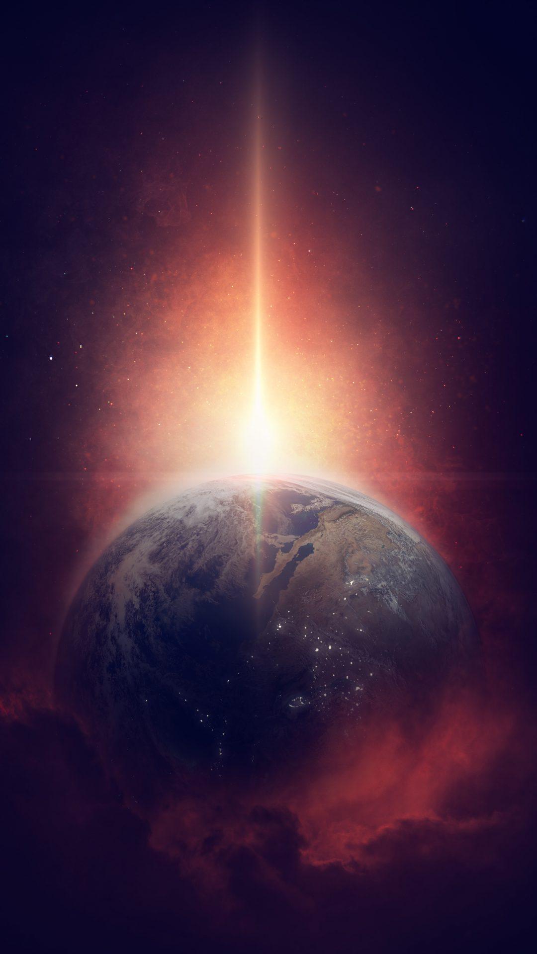Cosmos Iphone X Wallpaper Fantasy Earth 4k Uhd Wallpaper