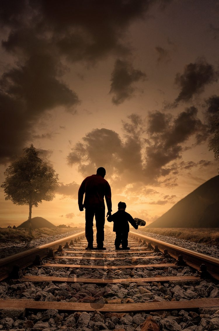 Cute Kittens Wallpaper For Iphone Father And Son At Nightfall Hd Wallpaper