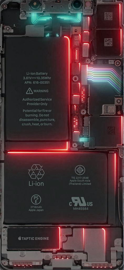 How To Make Live Wallpaper Iphone X Power Led Red Wallpapers Central