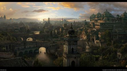 fantasy medieval port hd wallpapers matte desktop painting anime 1080p definition temples different coroflot planet artistic examples thousand stockvault dimensions