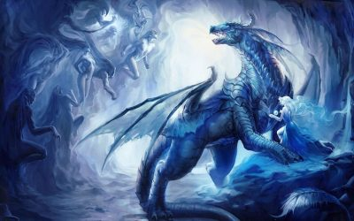 dragon fantasy hd cave ice wallpapers13