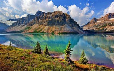 Scarica sfondi glaciale lago montagna estate paesaggio