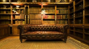 library interior background