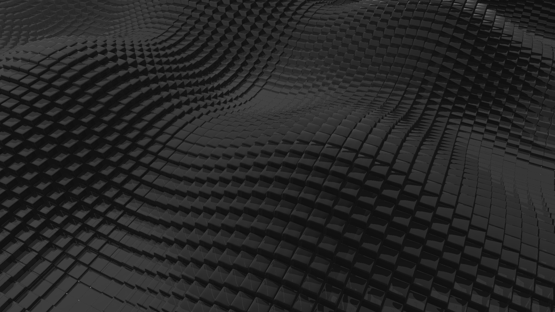 Download Wallpaper 1920x1080 Surface, Rough, Black, Cubic