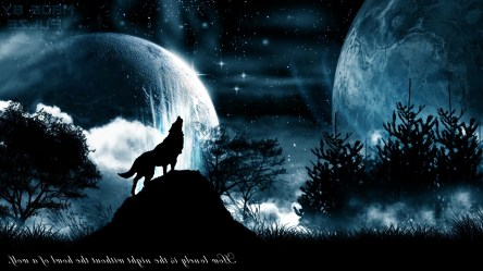 Iphone Wolf And Moon Wallpaper