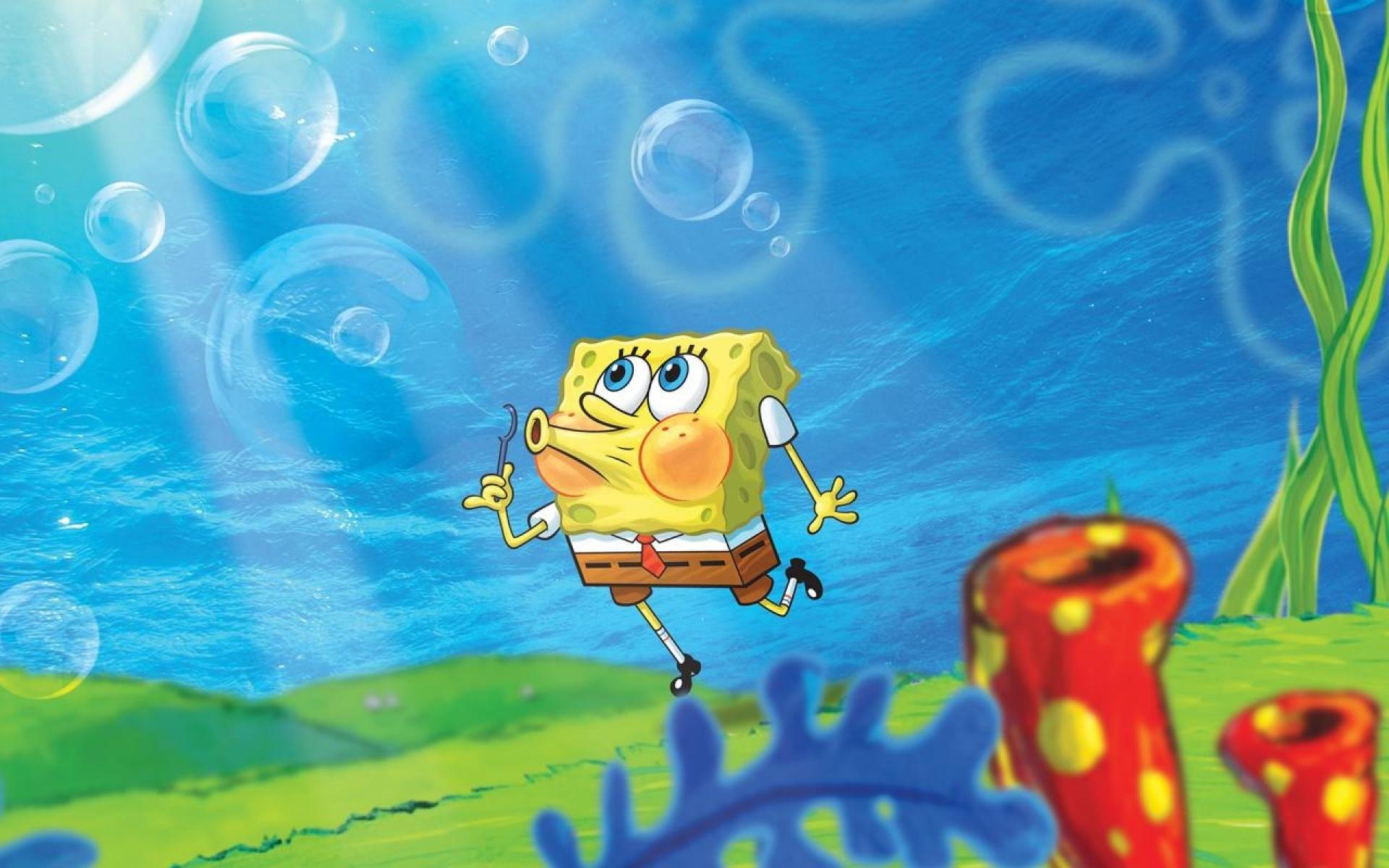 Full Screen Funny Spongebob Background